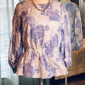 Ann Taylor Factory Peplum Top in Size M